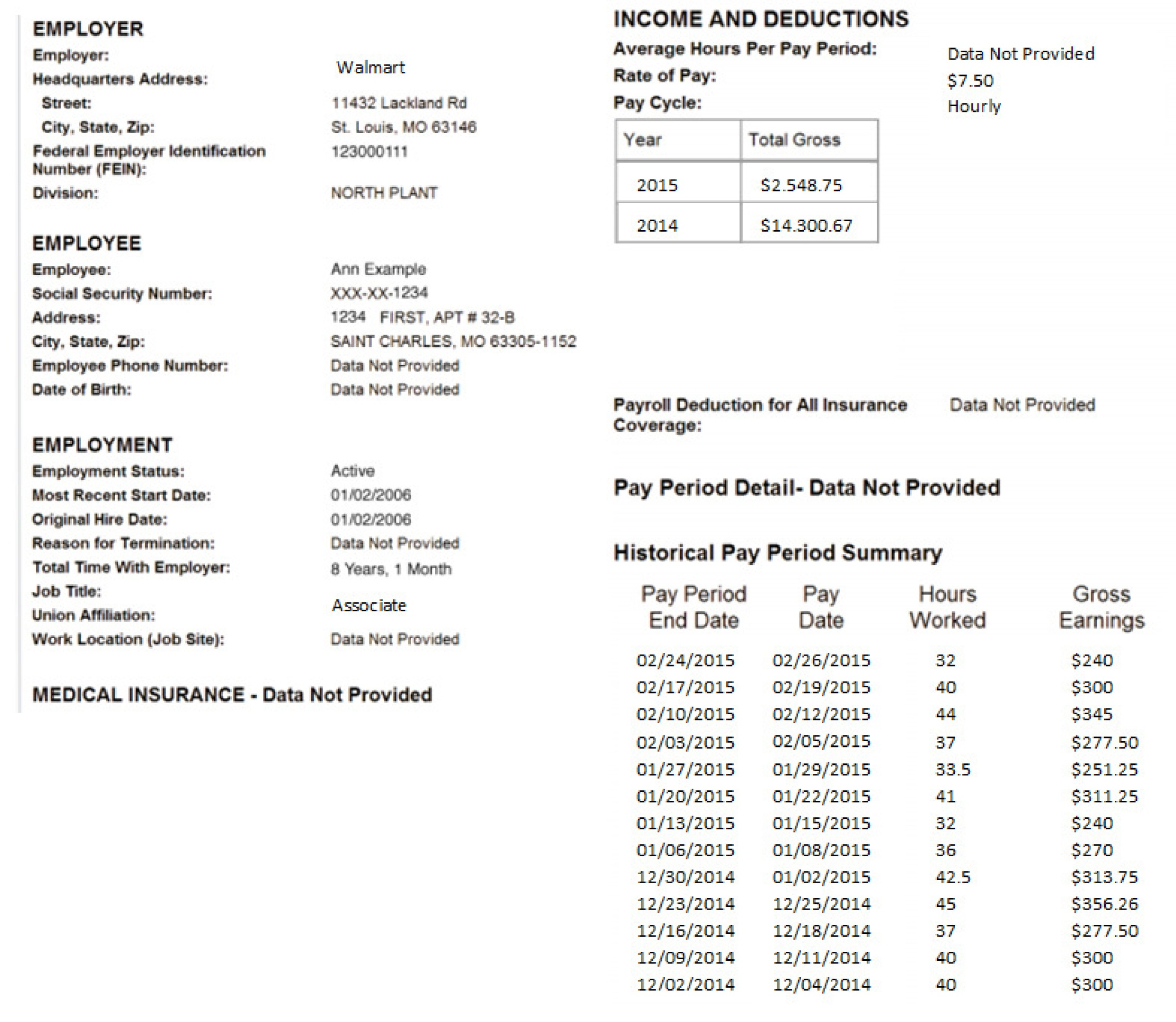 microsoft employee pay stub